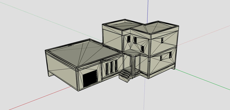 plan 3D sans textures