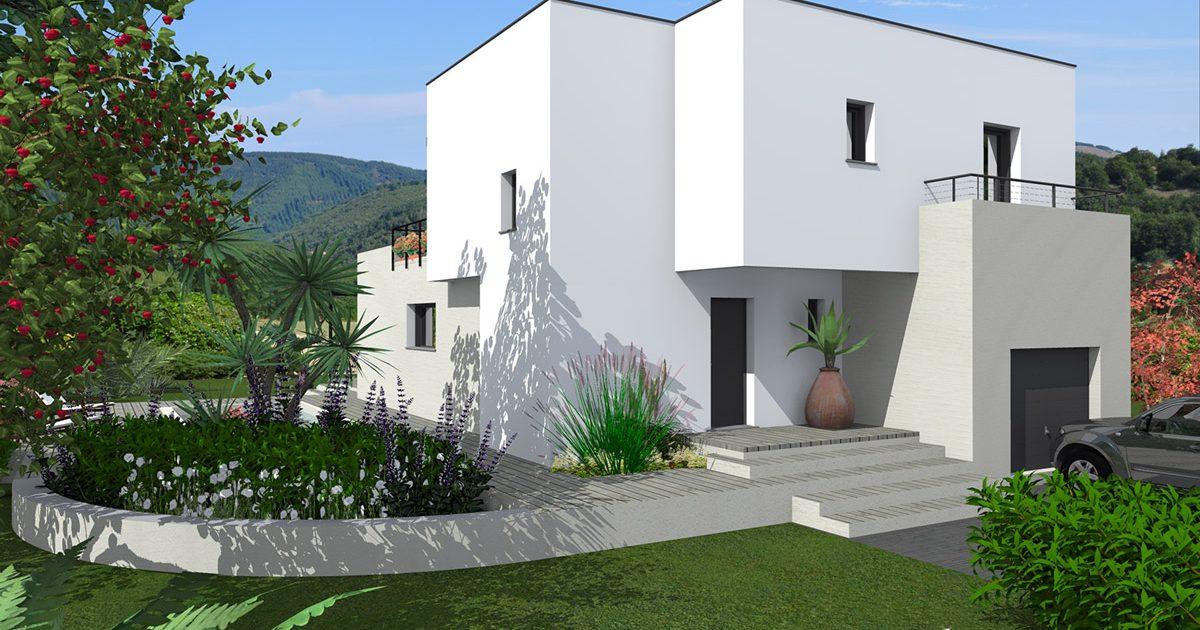villa contemporaine arrière