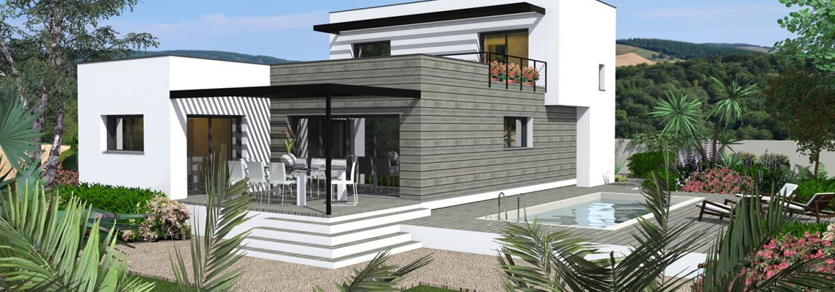 villa contemporaine - conception plan
