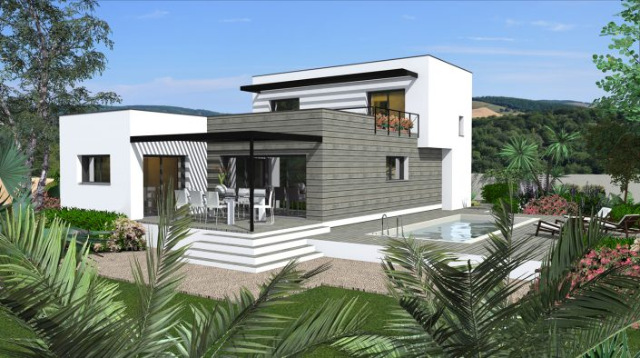 villa contemporaine - conception plan