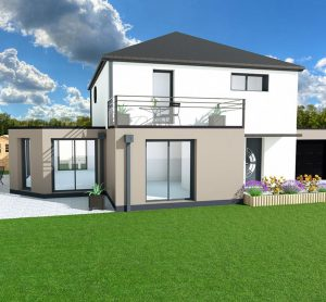 maquette 3D maison individuelle
